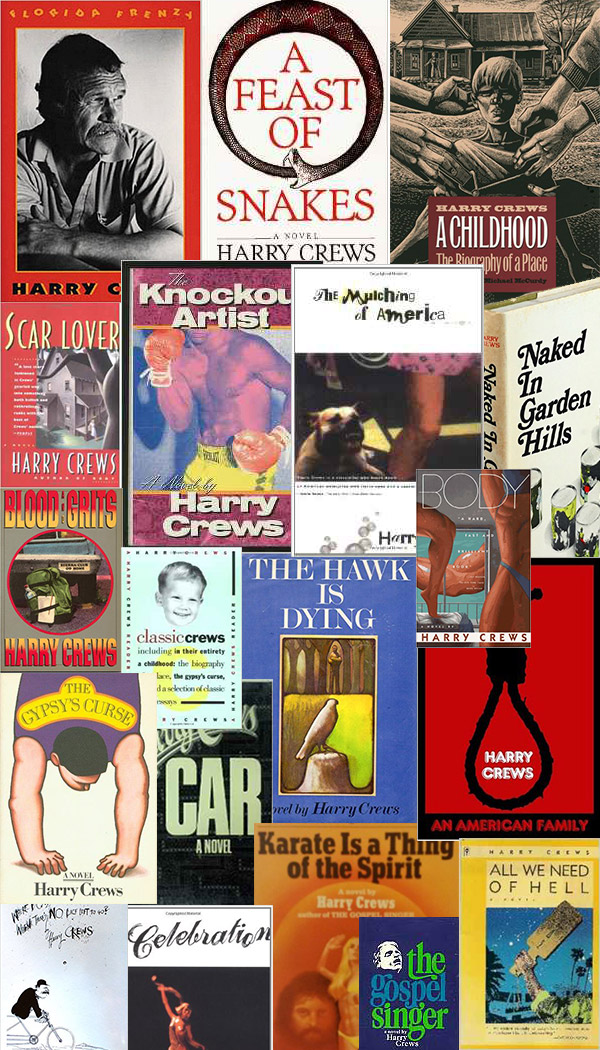 Collage of Harry Crews Novels