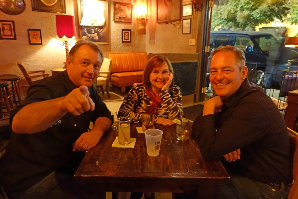 Tom Thurman, Lisa Bayer, and Ted Geltner, photo courtesy of BMG