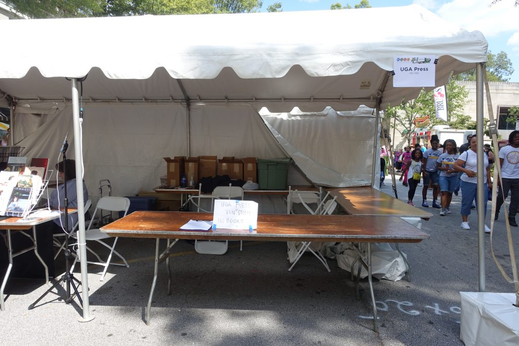 Despite the awful crime of UGA Press' van being stolen the night before, two of their authors, Ted Geltner and Jessica Handler, had a great experience at the 2016 Decatur Book Festival.