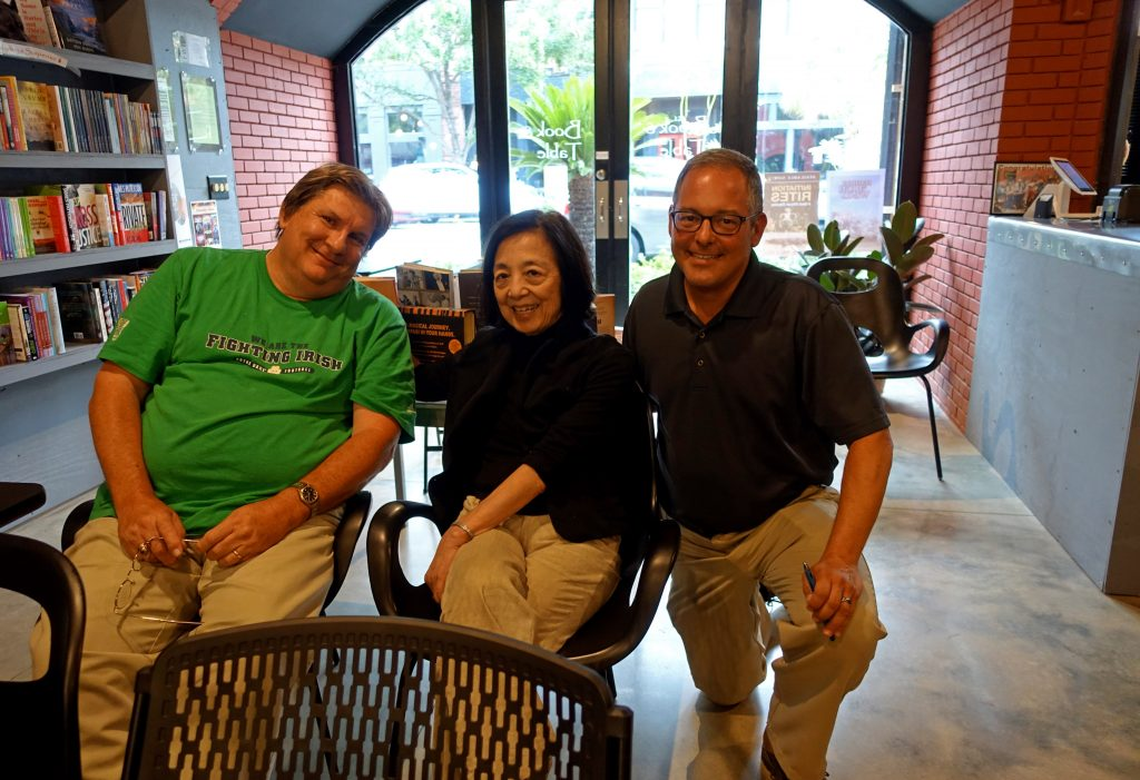 (L to R) David Lasseter, Lai Orenduff, and author Ted Geltner