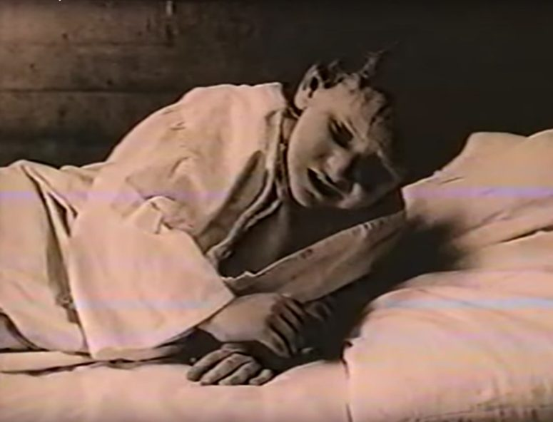 "Still image from ""The Rough South of Harry Crews"" imagining a 5 year-old Crews stricken with polio."