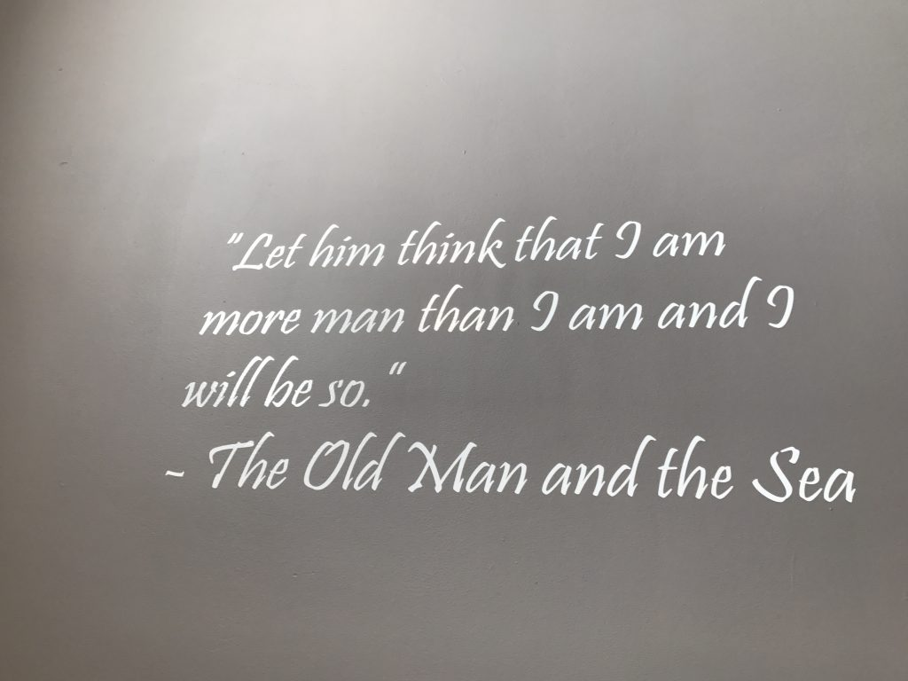 Quote on the wall at the Custom House