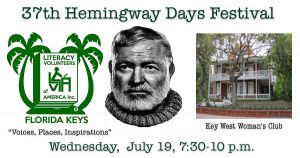 "07/19/17 | Hemingway Days Festival | ""Voices, Places, Inspirations"""