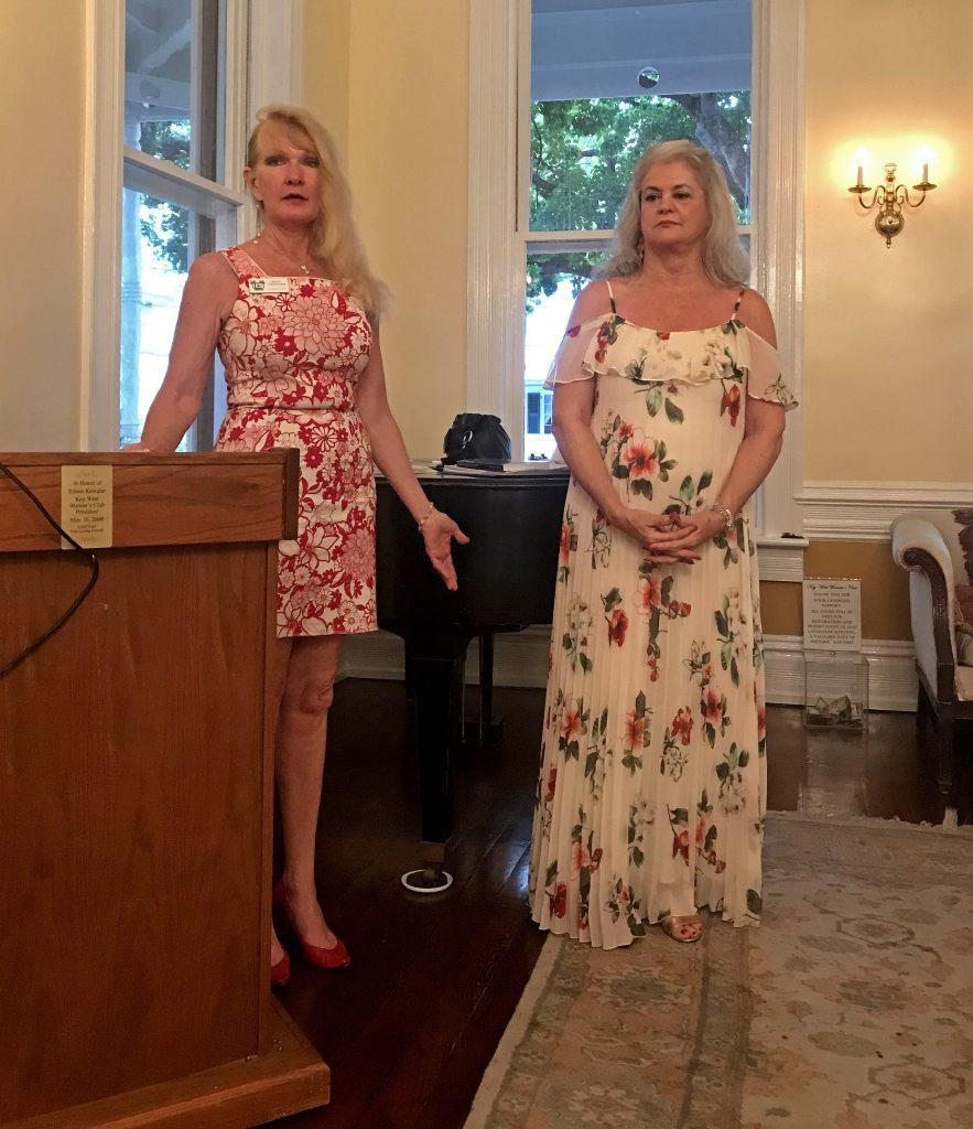Mary Casanova of LVA introduces Judge Peary Fowler