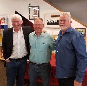 Steve Oney, Ted Geltner, & Michael Connelly last June at Skylight Books